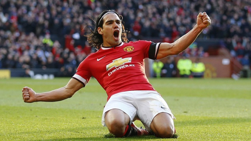 Falcao United against Leicester 2015