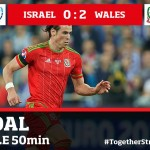 Bale second goal for Wales against Israel in 2015
