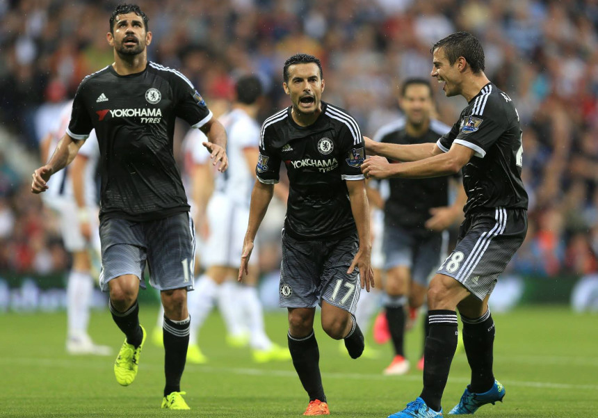 Diego Costa and Pedro in Chelsea first game