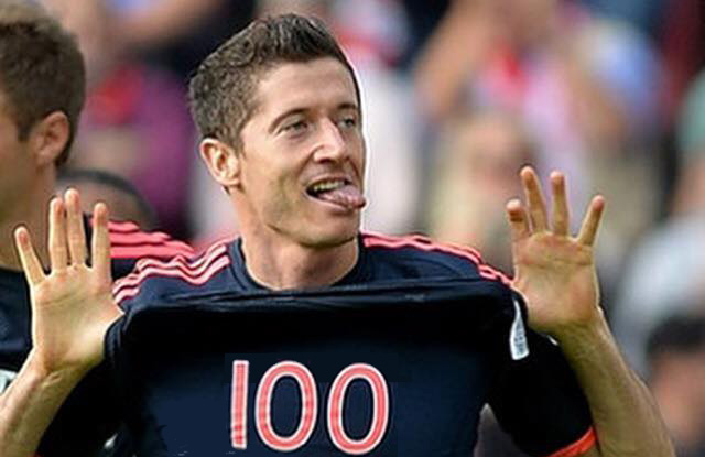 Robert Lewandowski 100 goals 2015