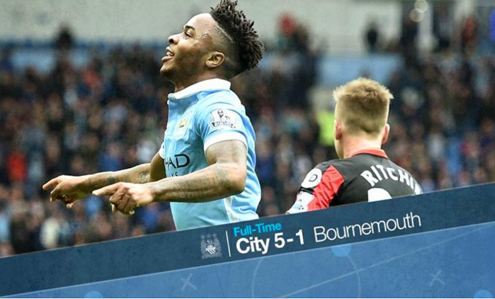 Sterling hat-trick vs Bournemouth