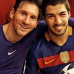 Messi & Suarez after 7-0 win against Valencia