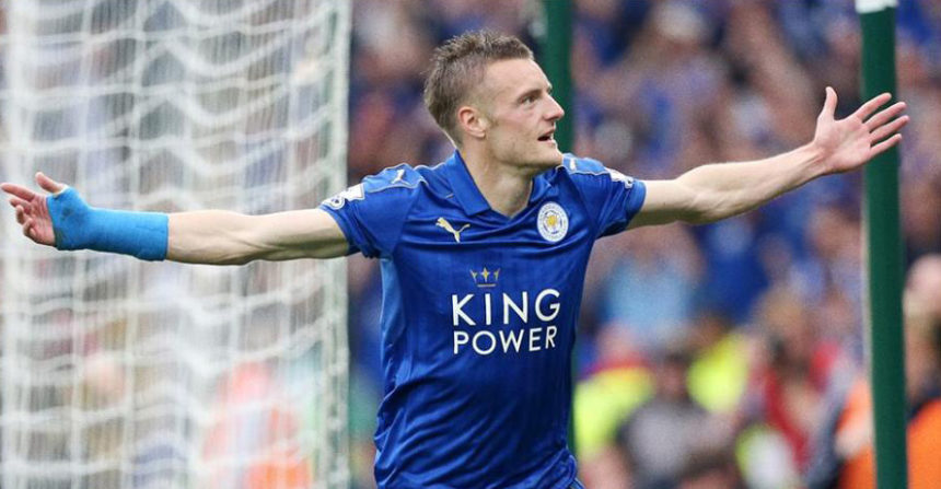 Jamie Vardy vs Everton 2016