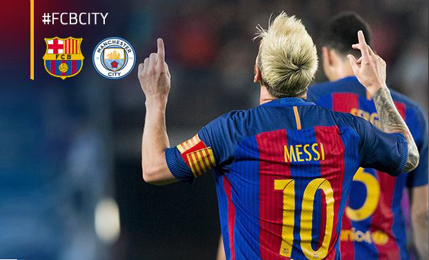 Messi hat-trick vs Manchester City
