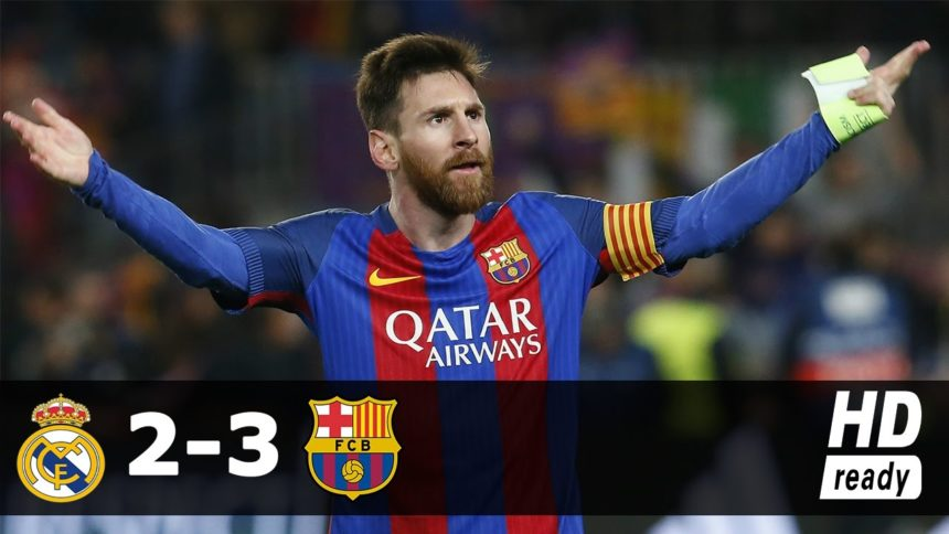 Real Madrid vs Barcelona 2-3