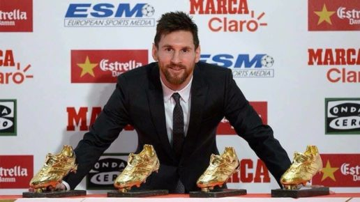 Messi Golden Shoe 2017