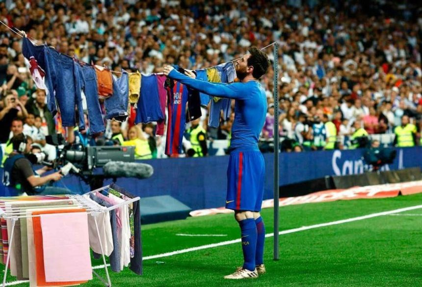 Messi cleaning up at Santiago Bernabau